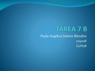 TAREA 7 B