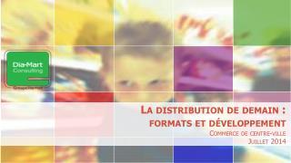 La distribution de demain :  formats et développement Commerce de centre-ville Juillet 2014