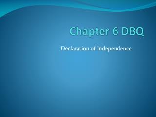 Chapter 6 DBQ