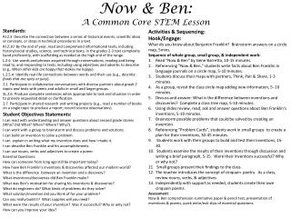Now & Ben:  A Common Core STEM Lesson
