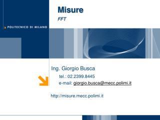 Misure FFT