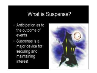 """Tools"" authors use to add suspense"