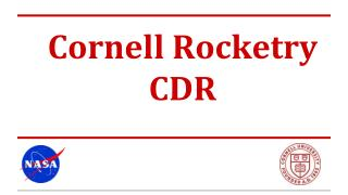 Cornell Rocketry C DR