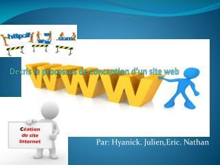 Décris le processus de conception d'un site web