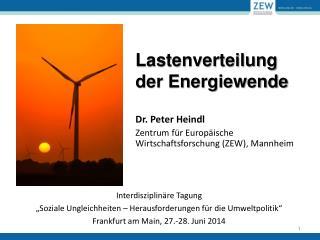 Lastenverteilung  der Energiewende