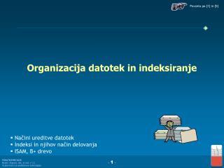 Organizacija datotek in indeksiranje