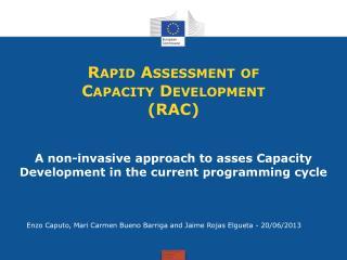 Rapid Assessment of Capacity Development (RAC)