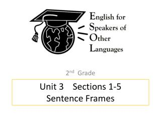 Unit 3    Sections 1-5 Sentence Frames