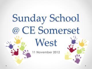 Sunday School @ CE Somerset West