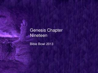 Genesis Chapter Nineteen