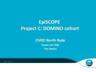 EpiSCOPE  Project C:  DOMiNO  cohort