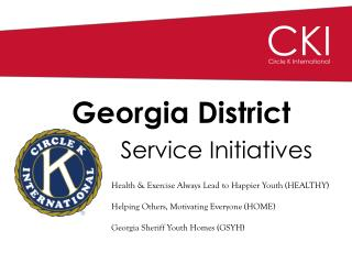 Georgia District Service Initiatives