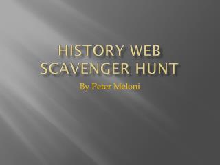 History Web Scavenger Hunt