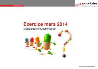 Exercice mars 2014