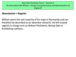 Absenteeism + Regents