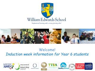 Welcome! Induction week information for Year 6 students