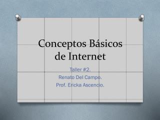 Conceptos B�sicos de Internet