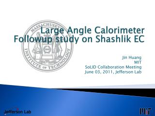 Large Angle Calorimeter Followup  study on  Shashlik  EC