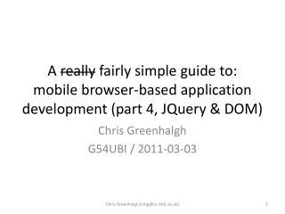 Chris Greenhalgh G54UBI / 2011-03-03