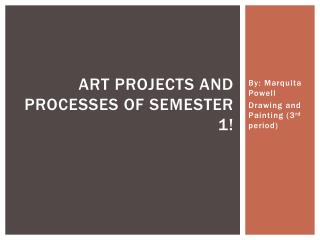 Art Projects and Processes of Semester 1!