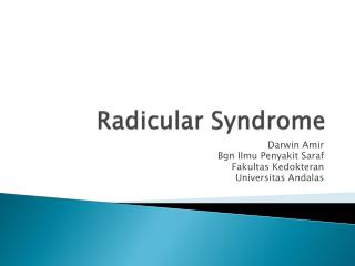 Radicular Syndrome