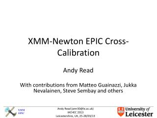 XMM-Newton EPIC Cross-Calibration