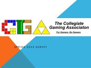 Spring 2013 Survey