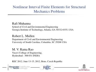Nonlinear Interval Finite Elements for Structural  Mechanics Problems