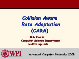 Collision Aware  Rate Adaptation (CARA)