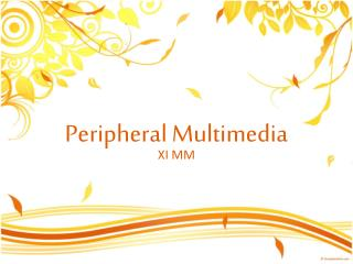Peripheral Multimedia