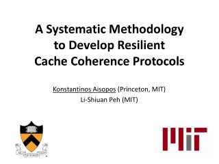 A Systematic Methodology  to Develop Resilient  Cache Coherence Protocols
