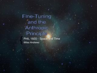 P HIL  192 D  - Space and Time Miles Andrews