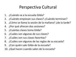 Perspectiva  Cultural