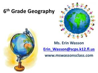 6 th  Grade Geography