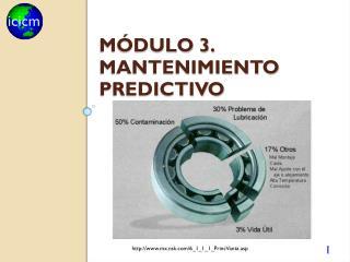 Módulo 3. mantenimiento predictivo