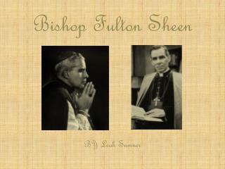 Bishop Fulton Sheen