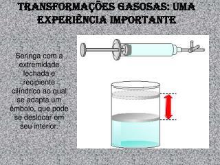 Transformações gasosas: uma experiência importante