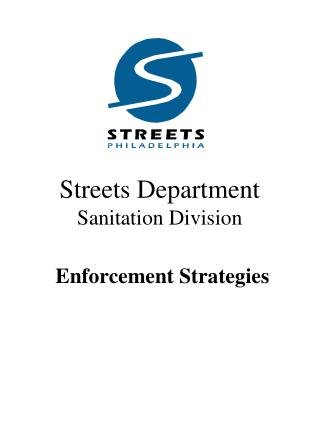 Streets Department   Sanitation Division