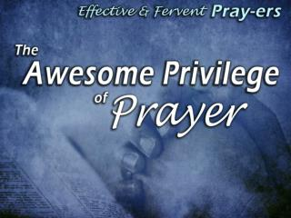 Why  Don't Christians Pray (more)? Too lazy Too busy…not enough time in the day…can never remember