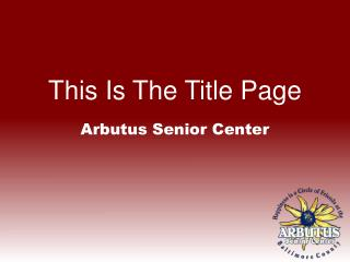 This Is The Title Page
