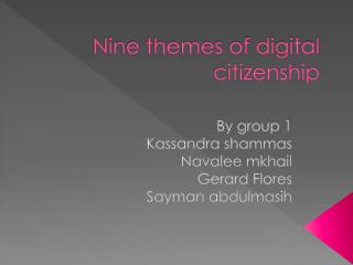Nine themes of digital citizenship