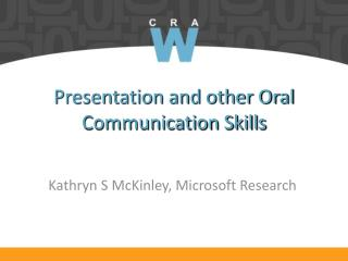 Presentation and other Oral Communication Skills