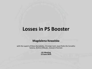 Losses in PS Booster