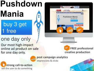 Our most high-impact online ad product on sale for one day only.
