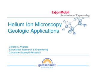 Helium Ion  Microscopy Geologic  Applications