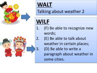 WALT Talking about  weather 2