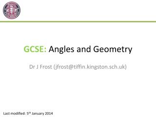GCSE:  Angles and Geometry