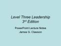 Level Three Leadership 3rd Edition