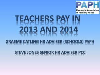 Teachers pay in  2013 and 2014