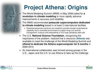 Project Athena: Origins